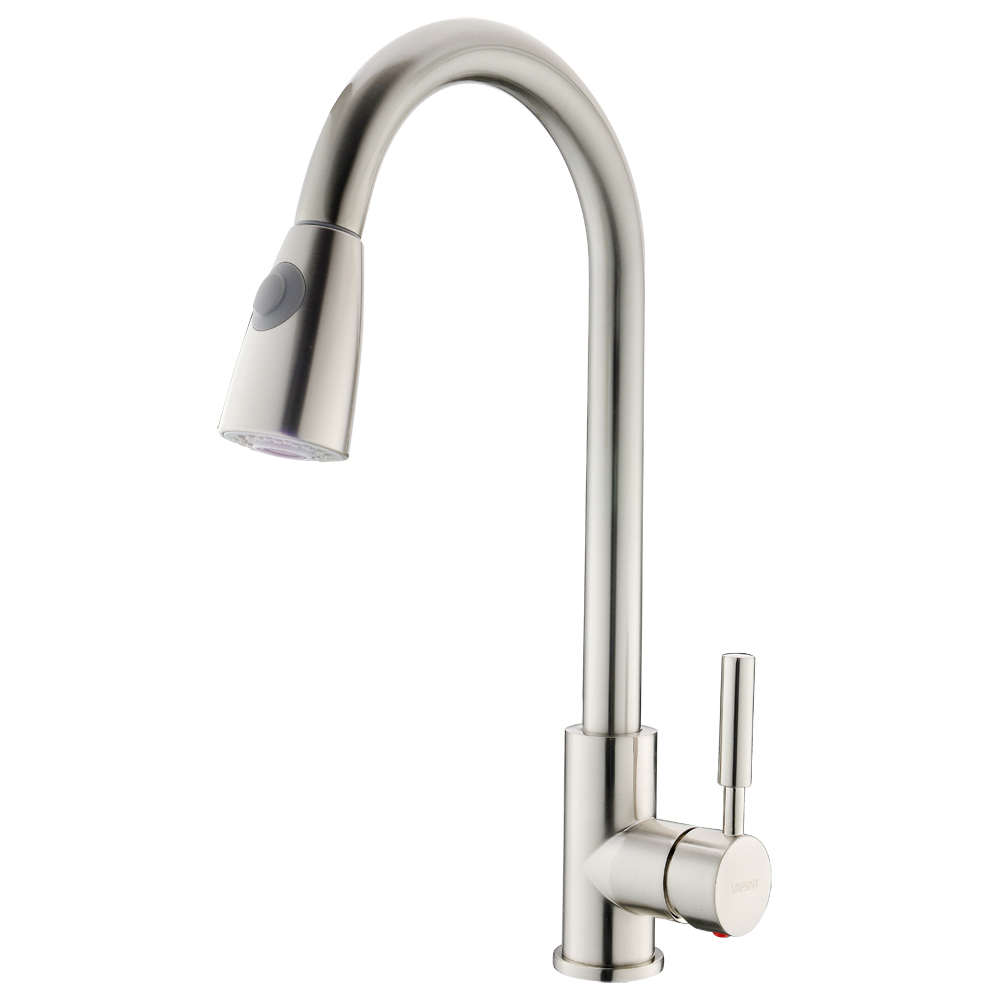VAPSINT Stainless Steel Single Handle Pull Out Kitchen Sink